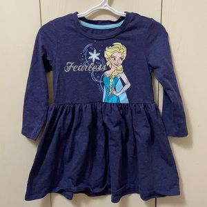 Disney Frozen Elsa Long Sleeved Cotton Dress